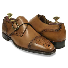 Cap Toe Monk Strap - Tan