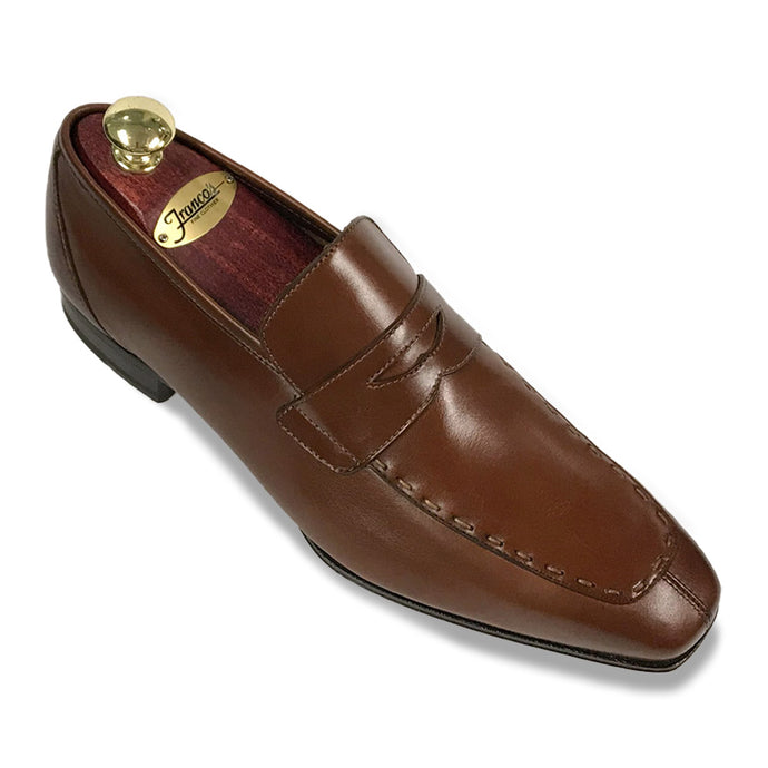 Romano Martegani Topstitch Penny Loafer - Brown