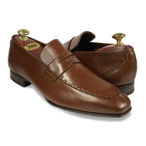 Barbour Topstitch Penny Loafer - Brown