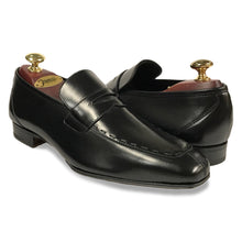 Romano Martegani Topstitch Penny Loafer - Black