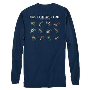 Southern Tide Twelve Flies of Christmas-Navy