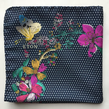 Eton Floral/Polka Dot Print Pocket Square