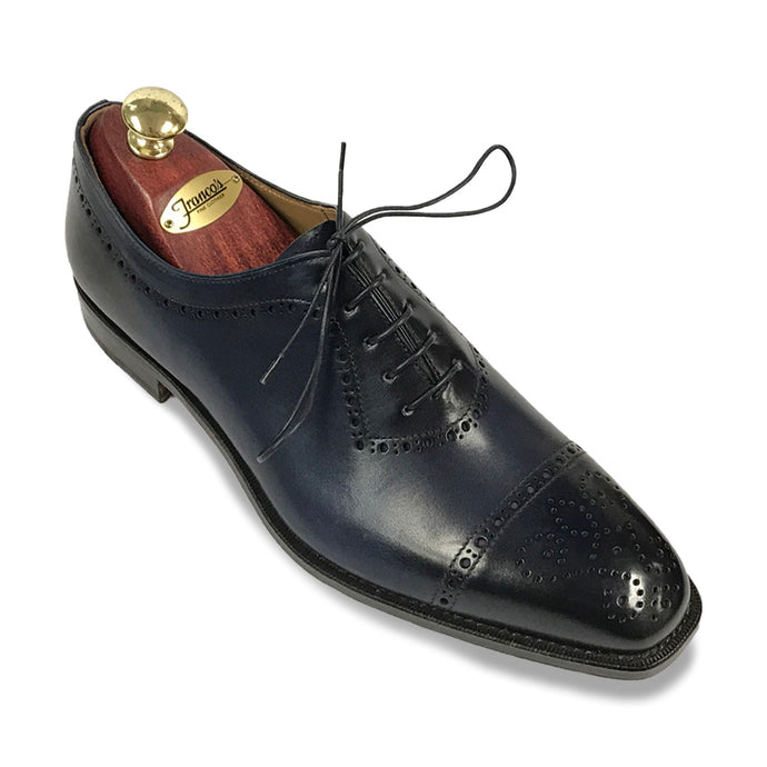 Romano Martegani Perforated Cap Toe - Navy