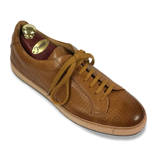 Romano Martegani Perforated Sneaker - Cognac