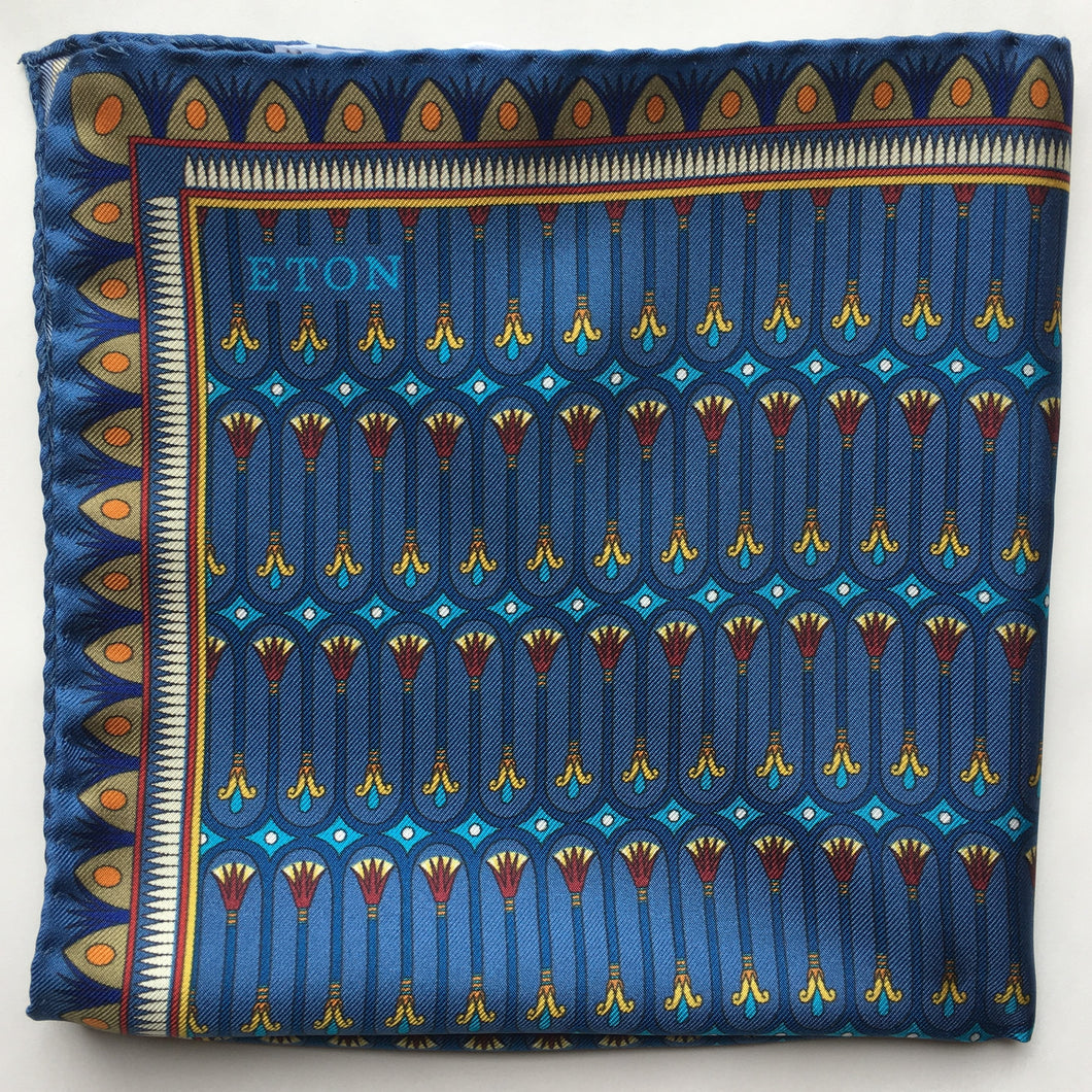 Eton Egyptian Print Pocket Square