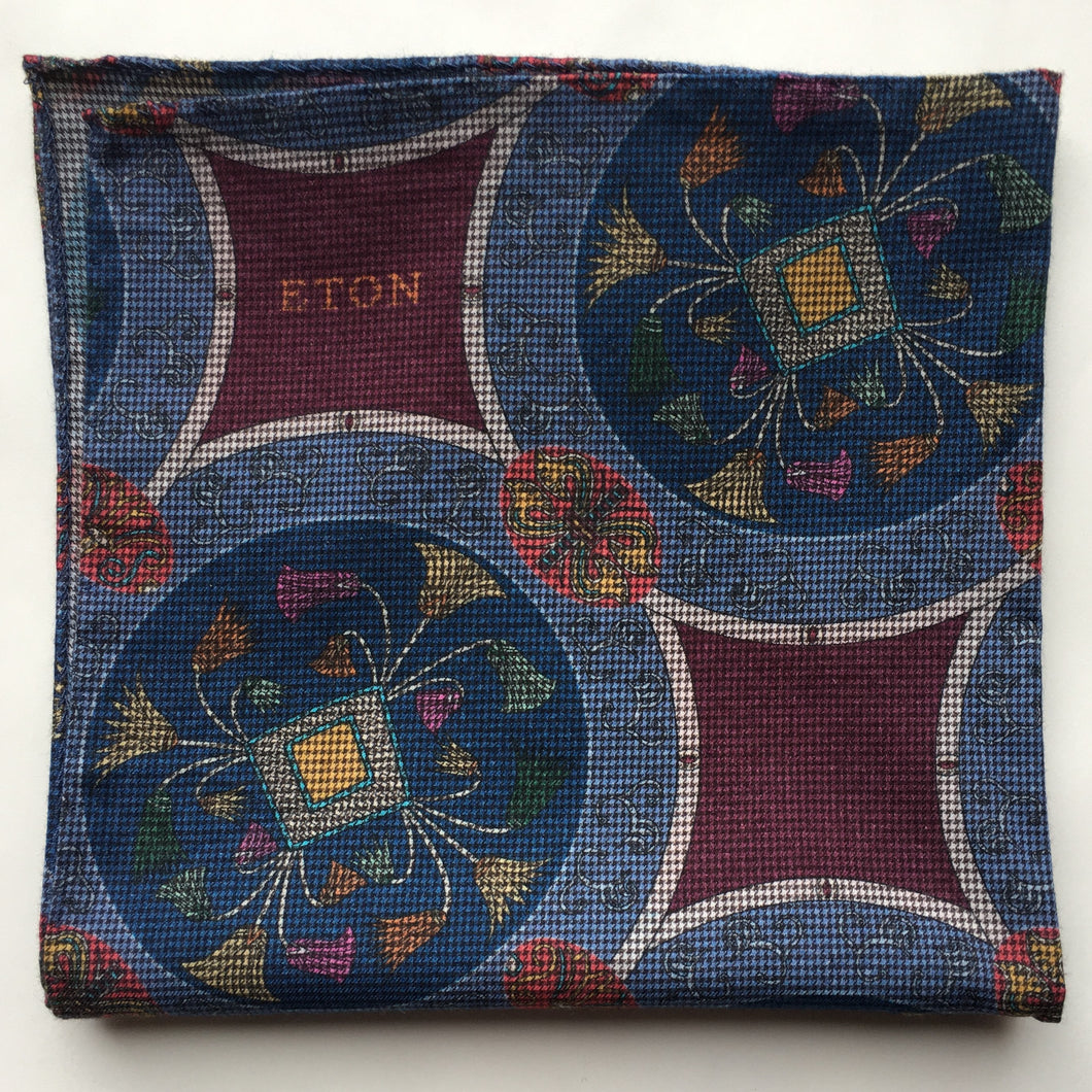 Eton Ancient Print Pocket Square
