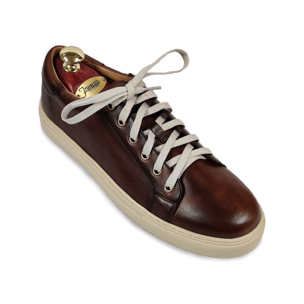 Peter Millar Crown Burnished Sneaker - Bourbon