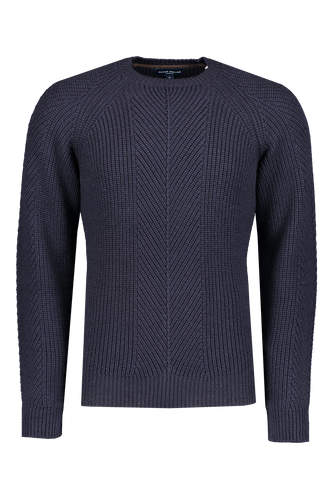 Peter Millar Collection Charlton Chevron Crew Sweater-Blue
