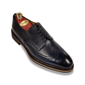 Di Bianco Scotch Grain Lace-Up | Navy