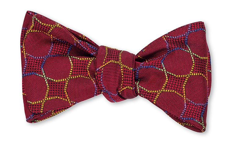 R. Hanauer Red Melbourne Bow Tie