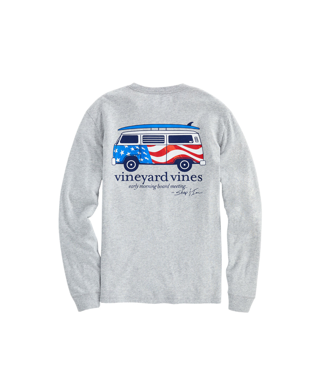 Vineyard Vines USA Bus & Board Pocket Tee | White