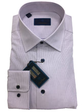 David Donahue Graph Check Dress Shirt Regular Fit | Blue/White