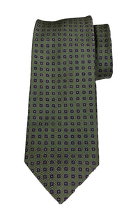 JZ RICHARDS Green Tie with Squares