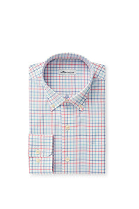 Peter Millar Crown Ease Everett Sport Shirt | Lake Blue