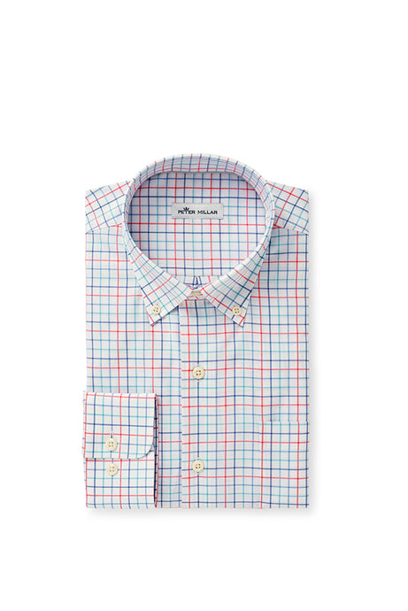 Peter Millar Crown Ease Everett Sport Shirt - Lake Blue
