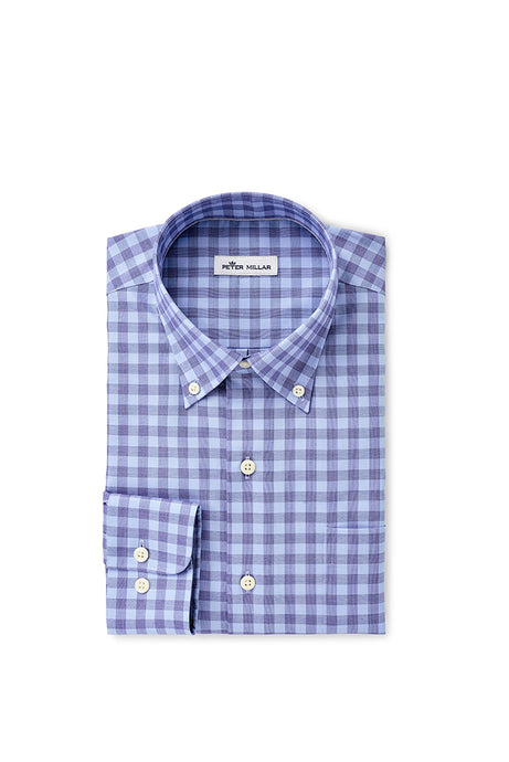 Peter Millar Crown Ease Garrett Sport Shirt | Blue Lapis