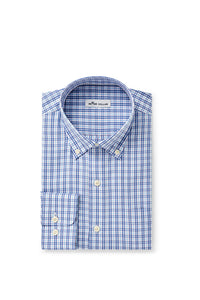 Peter Millar Crown Soft Lambert Sport Shirt - Lake Blue