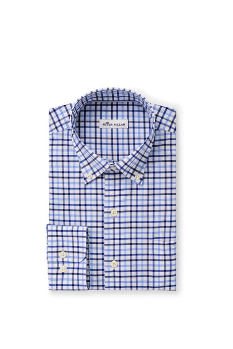 Peter Millar Lonnie Cotton-Blend Sport Shirt - Blue Lapis