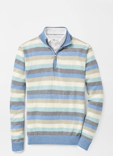 Peter Millar Williams Wool-Linen Quarter-Zip Sweater