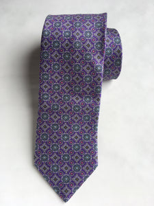 Eton  Medallion Diamond Weave Tie | Purple