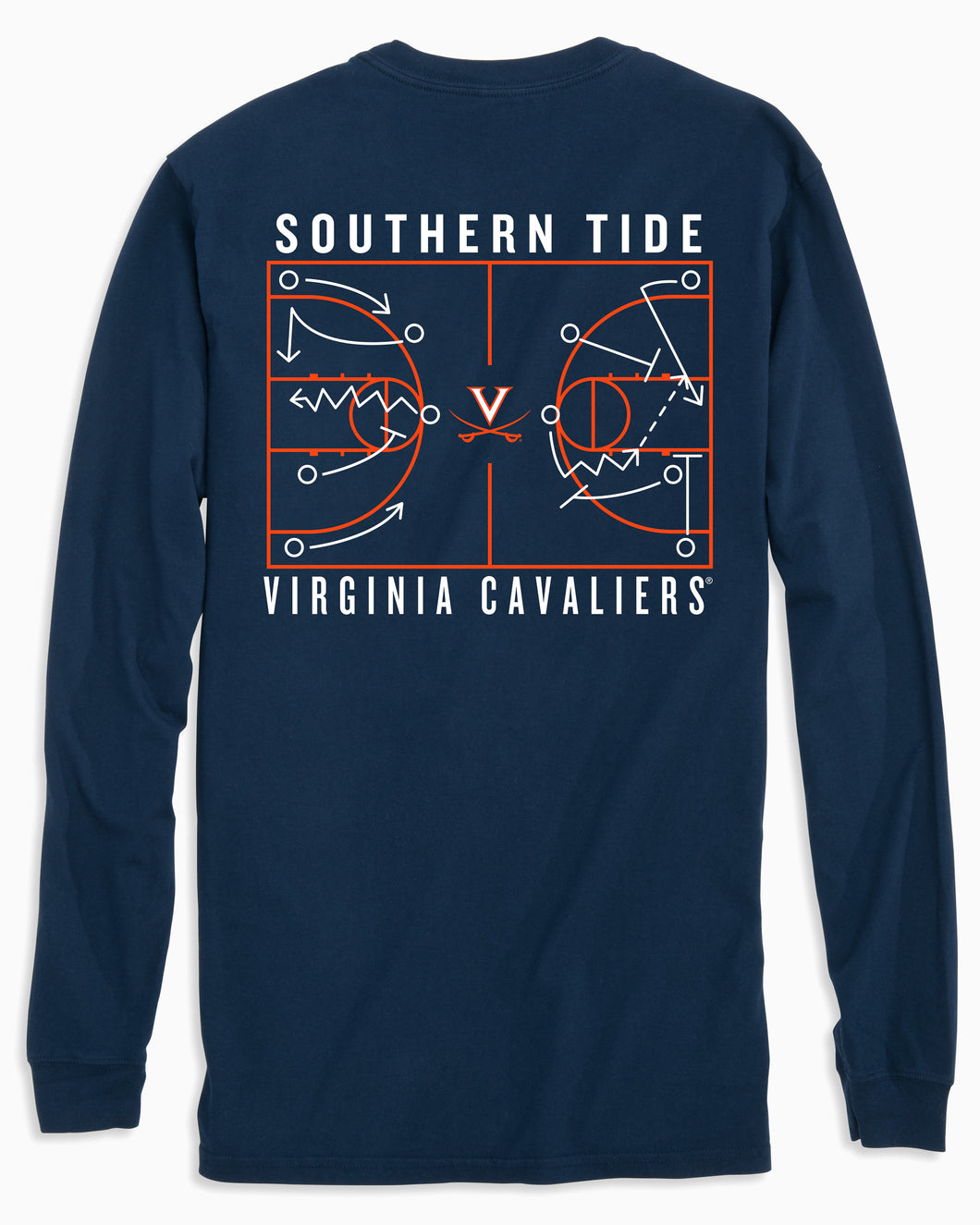 Southern Tide UVA Cavaliers Long Sleeve Basketball T-Shirt