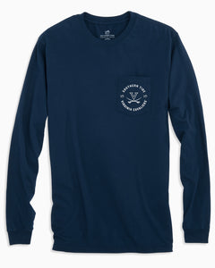 Southern Tide UVA Cavalier Long Sleeve Basketball T-Shirt - Navy
