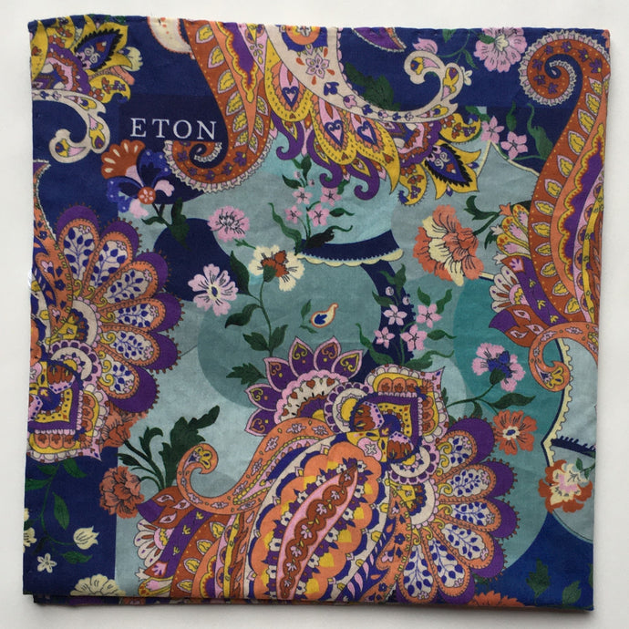 Eton Multi Paisley Pocket Square