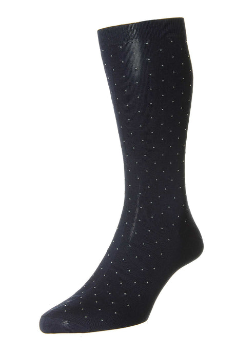 Pantherella Motif Pin Dot –Navy