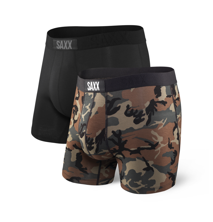Saxx Vibe Boxer Brief - Black Wood Camo