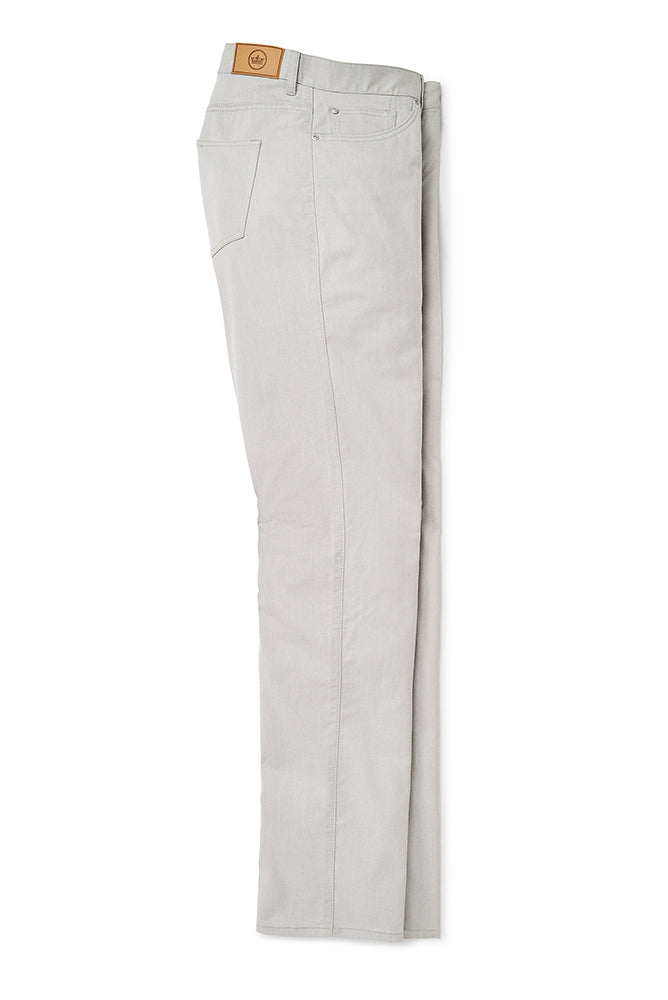 Peter Millar Crown Comfort Twill Five-Pocket Pant - Gale
