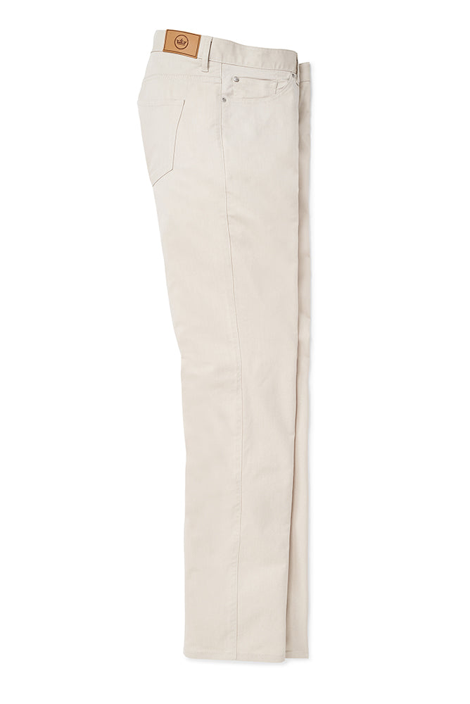 Peter Millar Crown Comfort Twill Five-Pocket Pant | Khaki