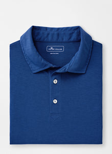 Peter Millar Solid Aqua Cotton Polo - Atlantic Blue