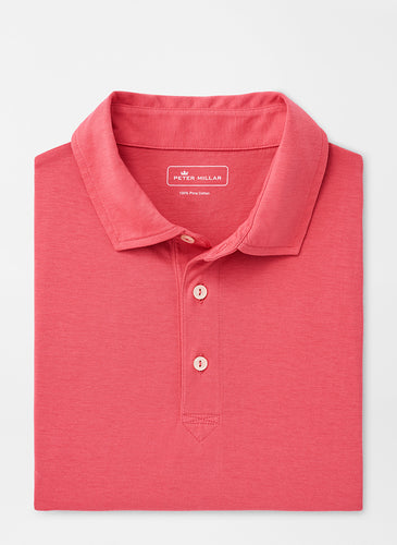 Peter Millar Solid Aqua Cotton Polo | Hyannis Red