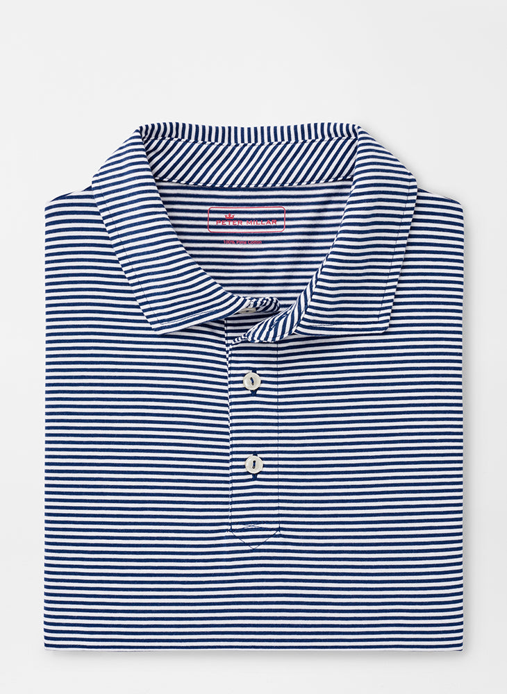 Peter Millar Kribi Beach Aqua Cotton Polo | Atlantic Blue
