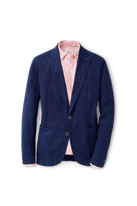 Peter Millar Summer Cotton-Blend Soft Jacket - Blue