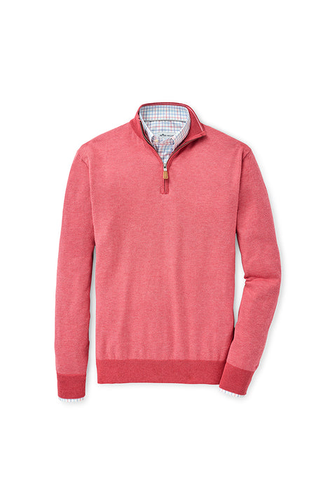 Peter Millar Birdseye Quarter-Zip Sweater | Red Ginger