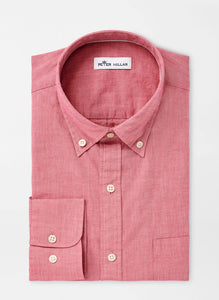 Peter Millar Garment Dyed Sport Shirt - Hyannis Red