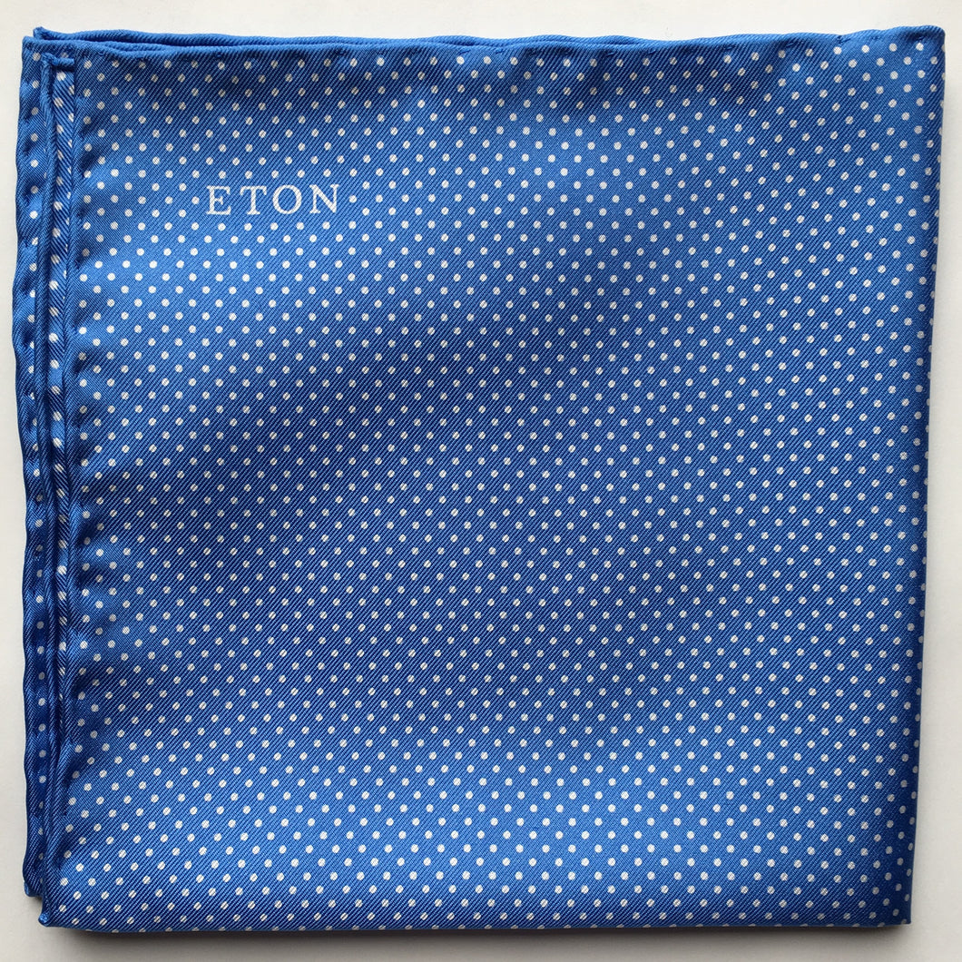 Eton Blue Polka Dots Pocket Square