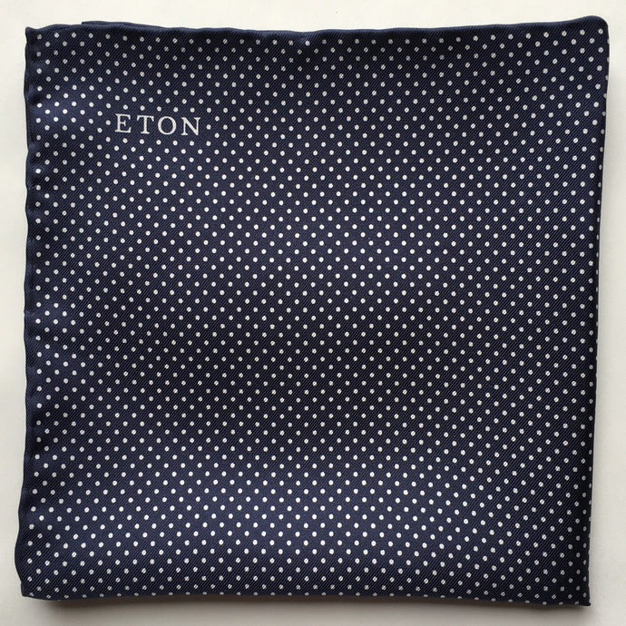 Eton Navy Polka Dots Pocket Square