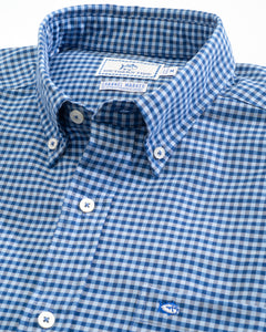 Southern Tide Channel Marker Gingham | Hurricane Blue