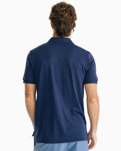 Southern Tide Jack Heathered Performance Polo Shirt | Navy