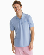 Southern Tide Jack Heathered Performance Polo Shirt | Light Blue