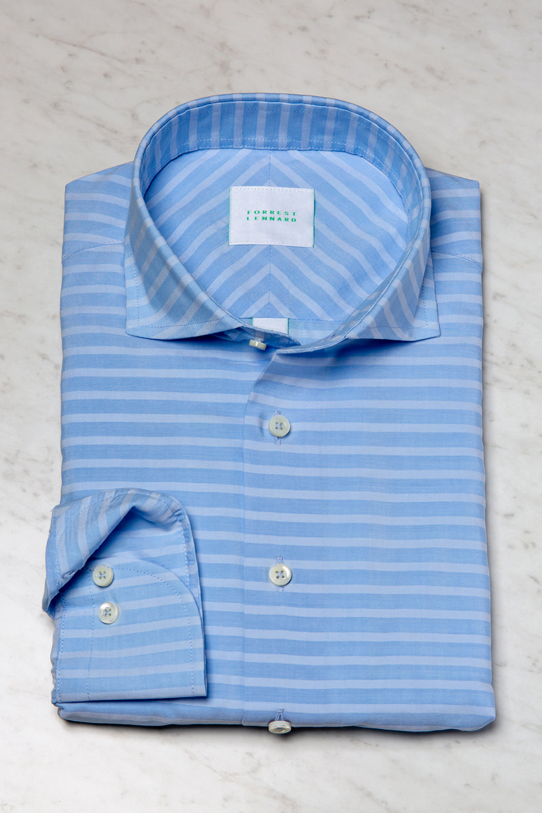 Forrest Lennard Curran Whisperstripe Shirt | Blue