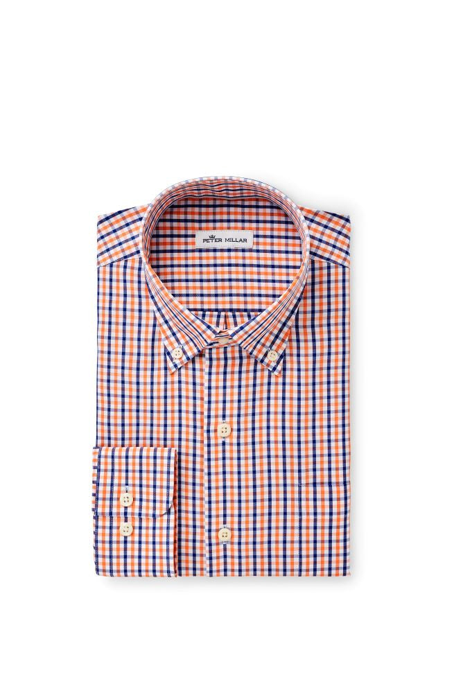 Peter Millar Crown Soft Trey Sport Shirt | Blue Lapis