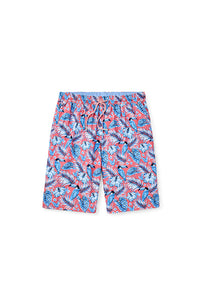 Peter Millar Toucanopy Swim Trunk | Red Ginger