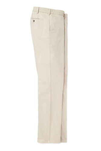 Peter Millar Crown Soft Flat-Front Trousers | Stone
