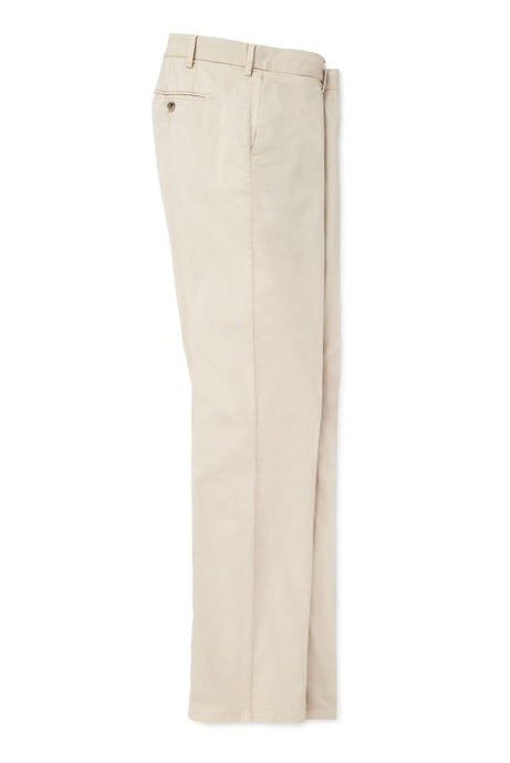 Peter Millar Crown Soft Flat-Front Trousers - Stone