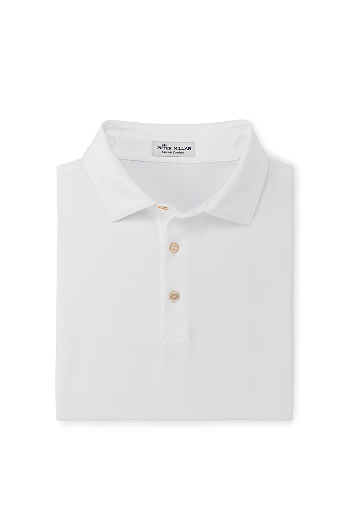 Peter Millar Solid Performance Polo | White