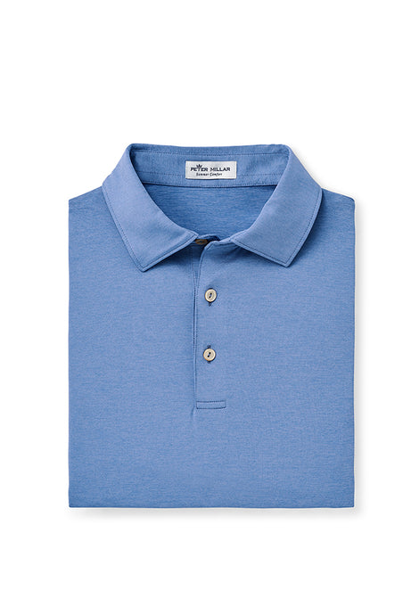 Peter Millar Solid Performance Polo - Lake Blue