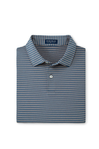 Peter Millar Coltrane Performance Polo | Blue Agate